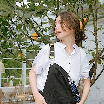 IREAL 趣味刺繡立領襯衫