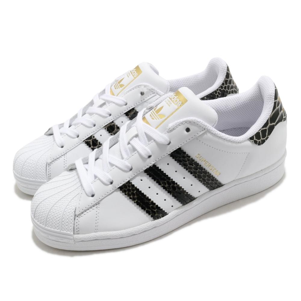 adidas 休閒鞋 Superstar 復古 低筒 女鞋 海外限定 愛迪達 三葉草 貝殼頭 蛇紋 白 黑 FV3294