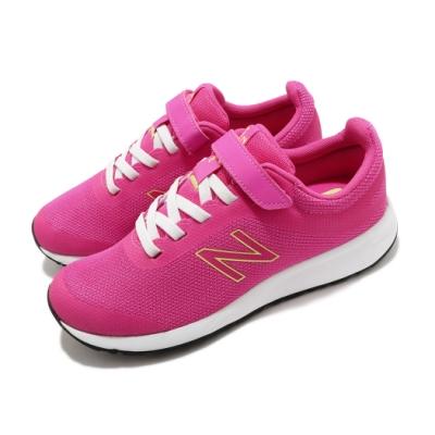 New Balance 慢跑鞋 455 V2 Wide 寬楦 童鞋 紐巴倫 魔鬼氈 輕量 舒適 中大童 粉 白 YT455PPW