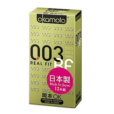 okamoto岡本-003RF極薄貼身保險套(12入)
