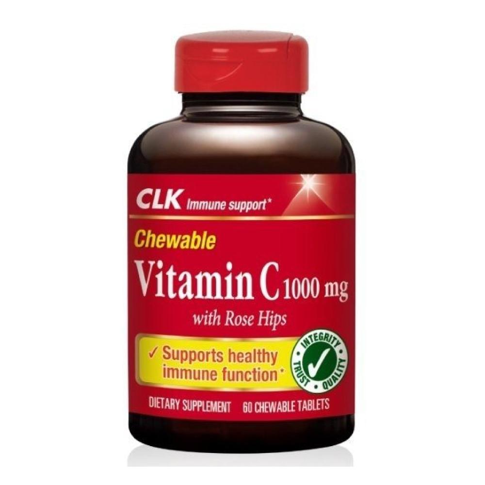 CLK健生 維生素C咀嚼錠 1000毫克 60粒 (美國原裝進口)
