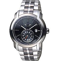 MINI Swiss Watches Cooper復古賽車機械錶(MINI-101E)-灰