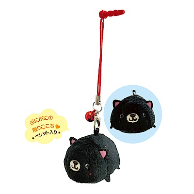 動物樂園掌心沙包公仔螢幕擦。小黑貓 UNIQUE