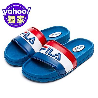 FILA KIDS 大童CPU運動拖鞋-藍 3-S419V-123