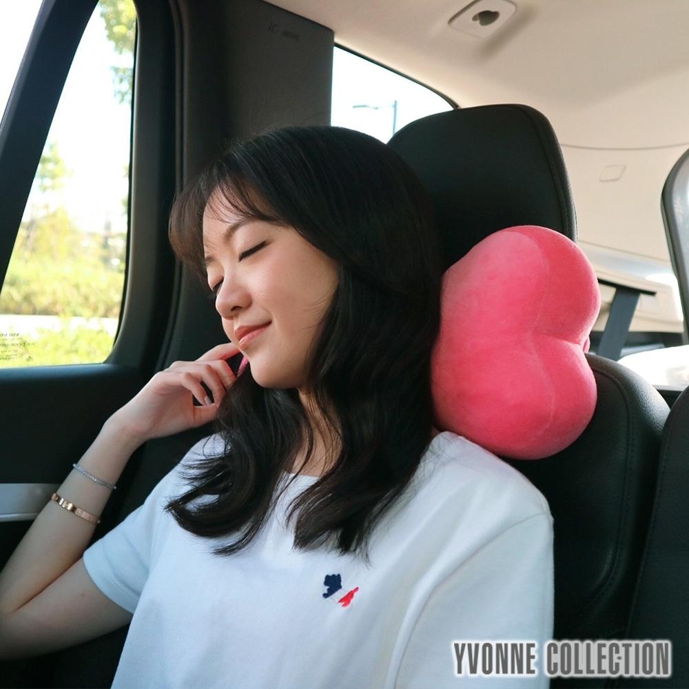 Yvonne Collection 骨頭造型車用頸枕(34公分)- 蜜桃粉