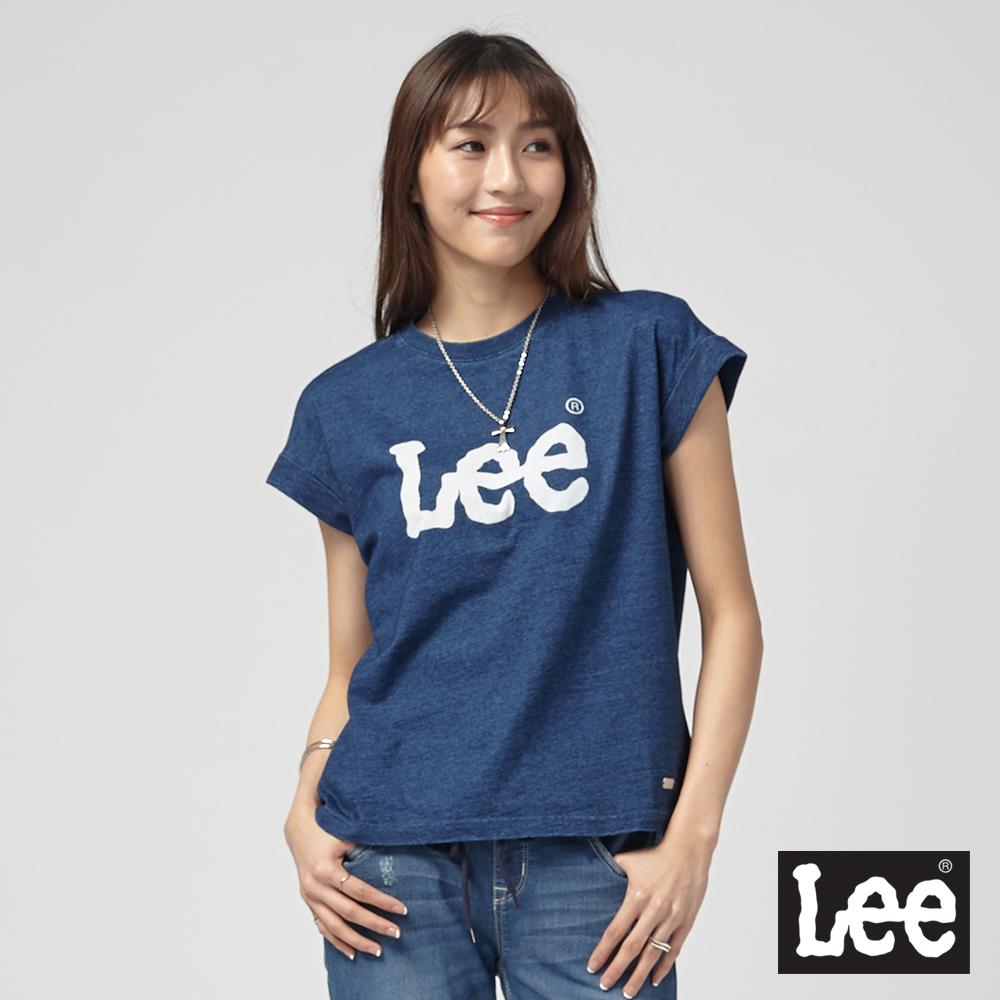 Lee 落肩LEE LOGO T恤/RG-落肩版-深藍