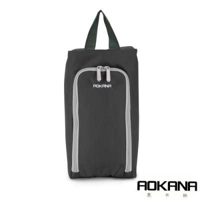 AOKANA奧卡納 MIT台灣製 旅行鞋袋 便攜收納包 收納袋(魔幻灰)02-027