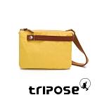 tripose 漫遊系列岩紋輕巧可拆式雙層斜揹小包 黃