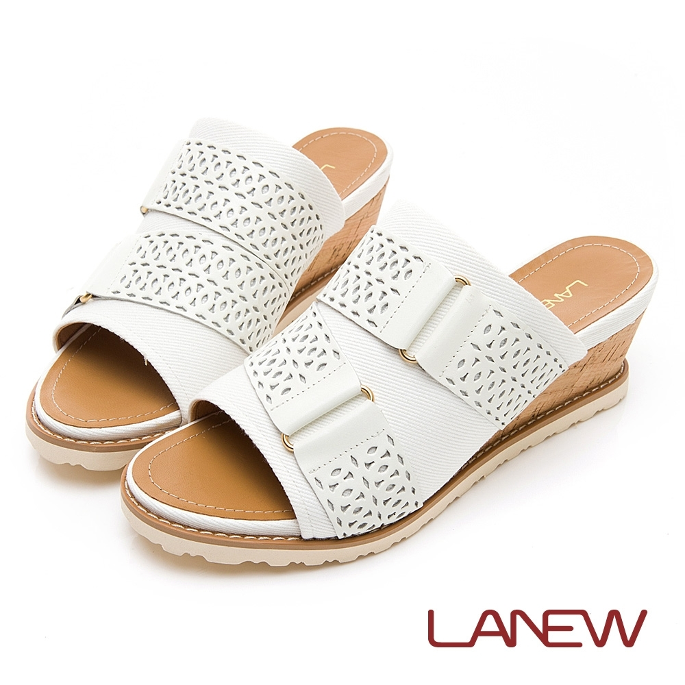 LA NEW Q Lite 雕花 楔型跟 拖鞋(女225083940)