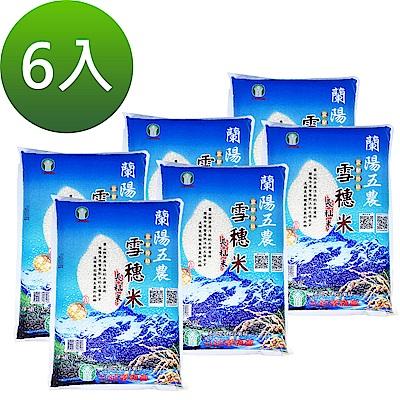 蘭陽五農 雪穗米-長秈 3k -x6入