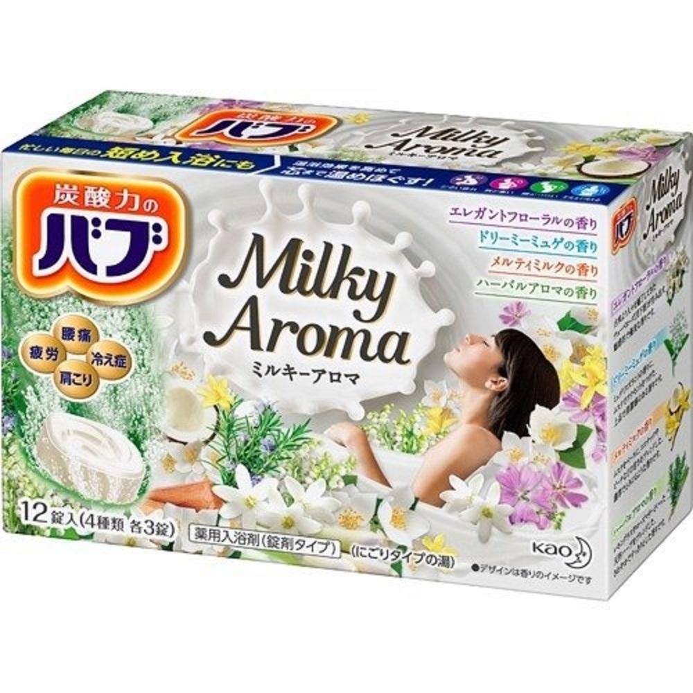 日本品牌 花王KAO 四合一乳香精油泡澡碇 12碇