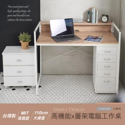 【STYLE 格調】MIT高機能置物層架電腦工作桌/電腦桌