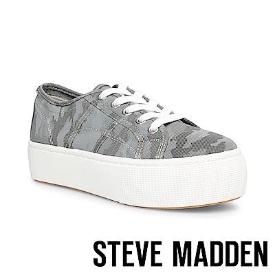 STEVE MADDEN-EMMI個性街頭厚底綁帶休閒鞋-特殊紋灰色