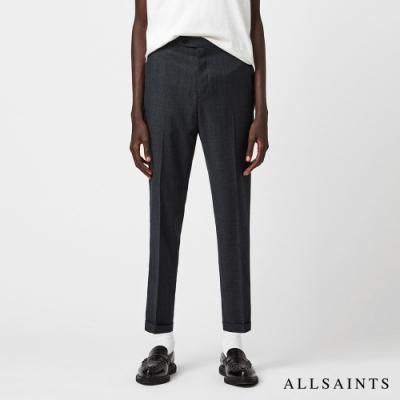 ALLSAINTS  DAYTON 俐落隨性羊毛混紡九分西裝長褲-碳黑