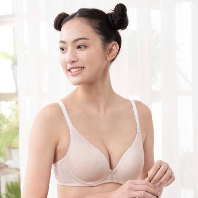嬪婷-環保冰涼D-E 罩杯少女內衣(粉)有機棉