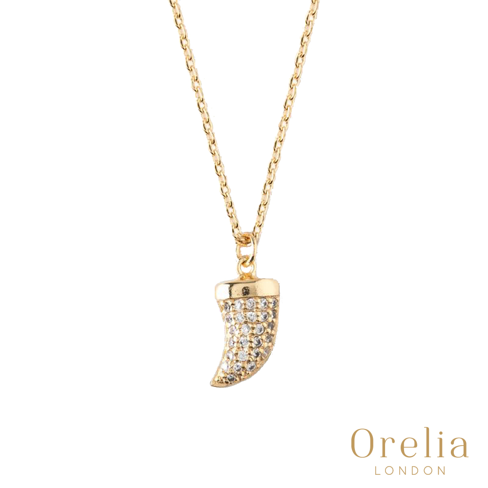 Orelia 英國倫敦 水晶象牙18K鍍金項鍊