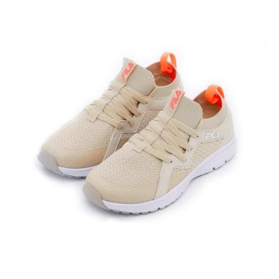 FILA 女款慢跑鞋-卡其(奶茶色) 5-J701T-761 (尺碼24-25.5)