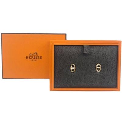 HERMES Chaine d Ancre 高級珠寶18黃K系列豬鼻耳針式耳環