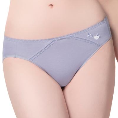 思薇爾 惹萌漾小鳥遊記系列M-XL低腰三角內褲(禾草藍)