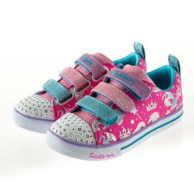 SKECHERS 女童系列 SPARKLE LITE 燈鞋 - 20274LHPMT