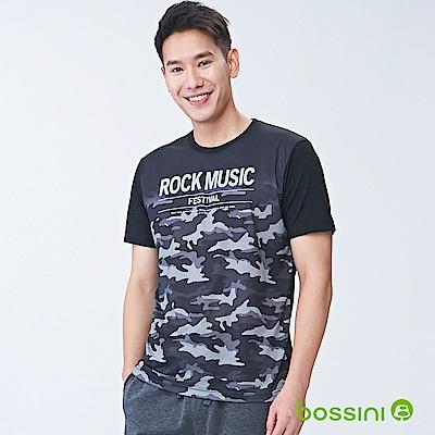 bossini男裝-短袖圓領上衣01黑
