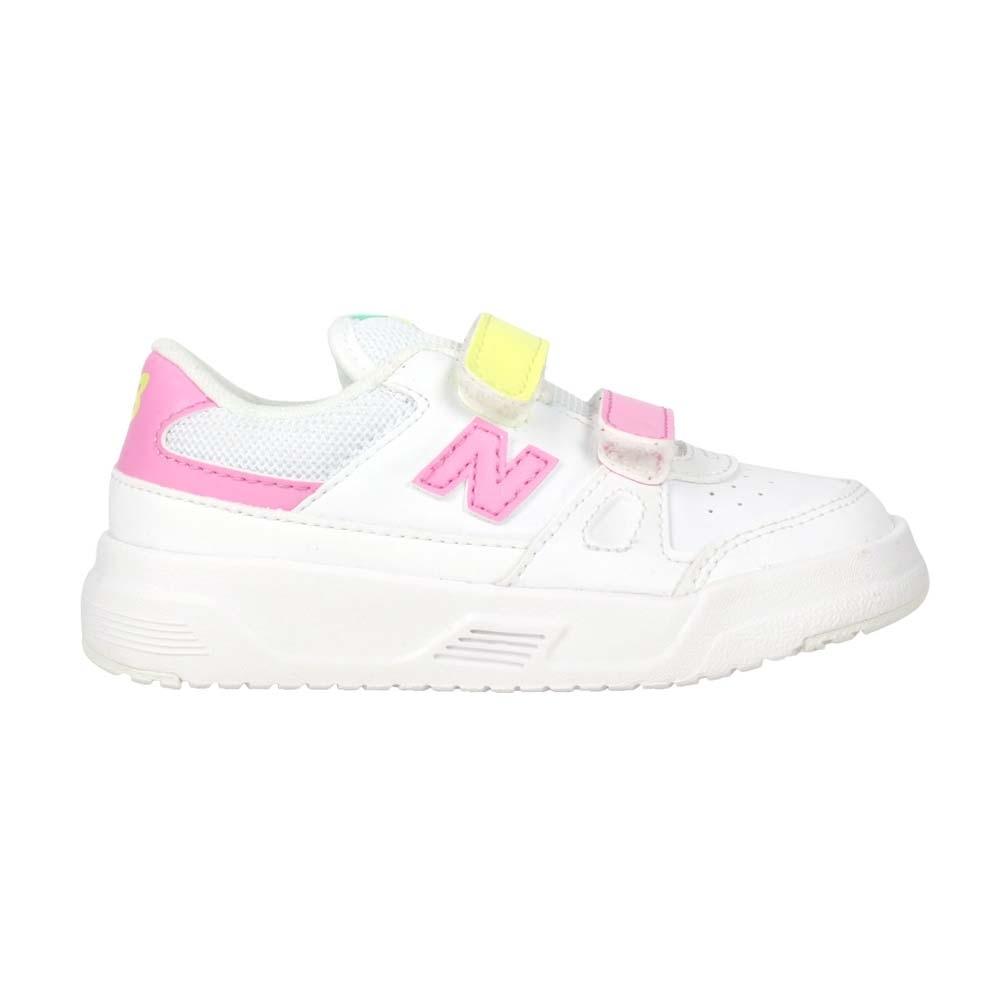 NEWBALANCE 女小童運動休閒鞋-WIDE-寬楦 CT20系列 復古 IVCT20WC 白粉紅黃