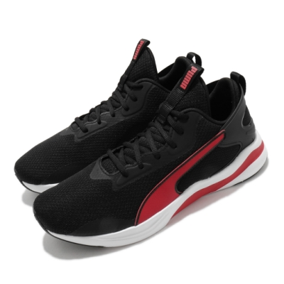 Puma 慢跑鞋 Softride Rift 運動 男鞋 輕量 透氣 舒適 避震 路跑 健身 黑 紅 19373302
