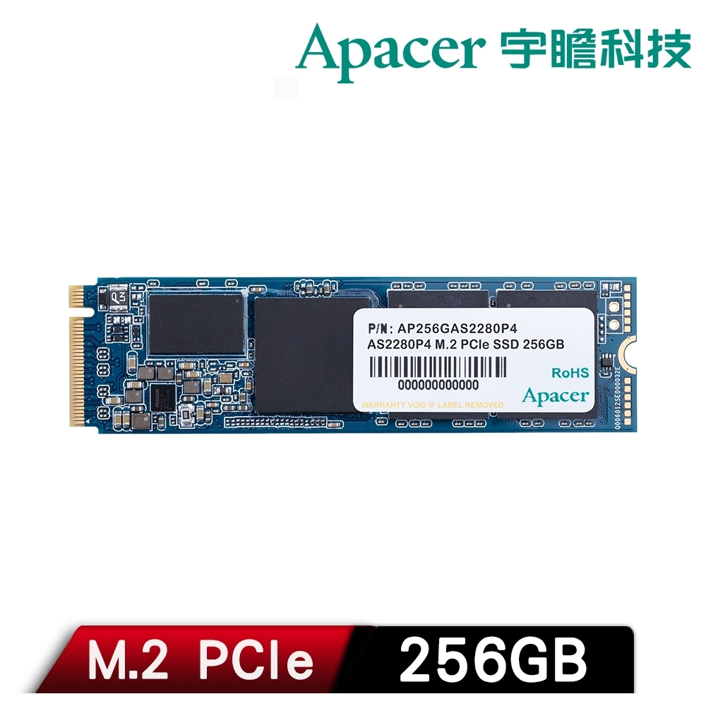 Apacer 宇瞻 AS2280P4 256GB M.2 PCIe Gen3 x4 SSD固態硬碟 product image 1