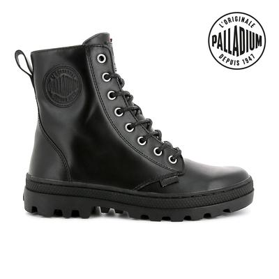 PALLADIUM PALLABOSSE OFF LEA皮革軍靴-女-黑
