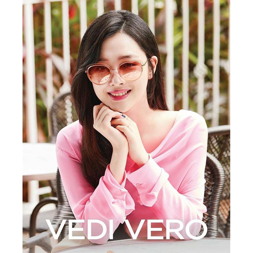 VEDI VERO 水銀面 β鈦 太陽眼鏡 (粉色+玫瑰金)VE854