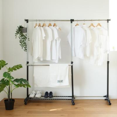 完美主義 大容量雙層伸縮衣架/吊衣架/曬衣架(2色)