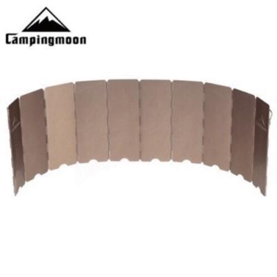 【柯曼】柯曼10片古銅擋風板  附硬式收納盒  露營必備 任意調節 公司貨 悠遊戶外