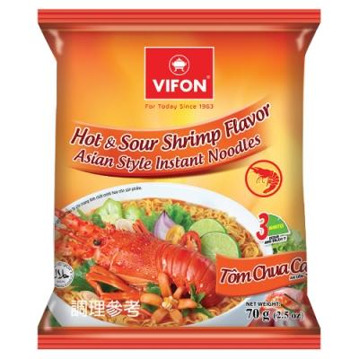 【VIFON味豐】越南 酸辣蝦風味泡麵 70g/包