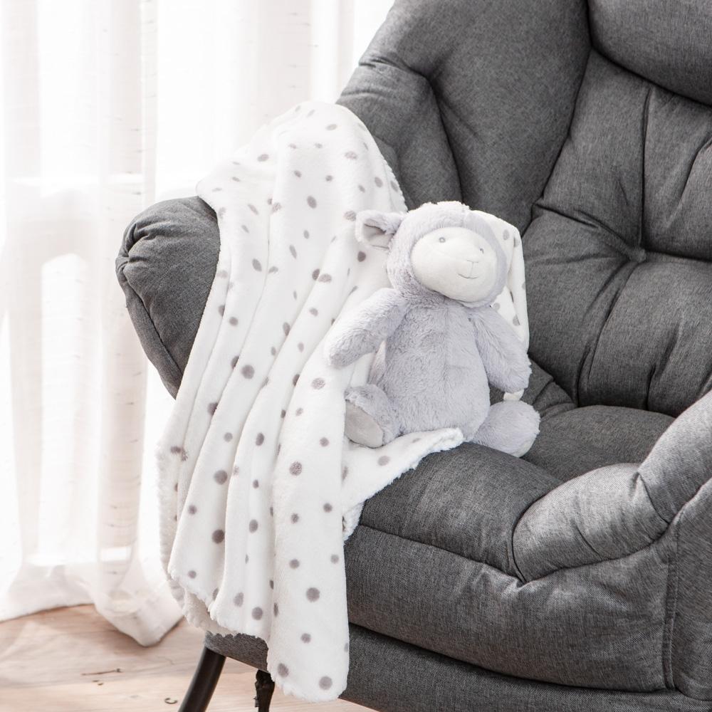 【百貨週年慶暖身 全館5折起-生活工場】mino俏皮羊蓋毯組