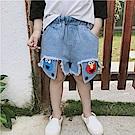 小衣衫童裝  男童時尚毛邊露口袋牛仔短褲1080426