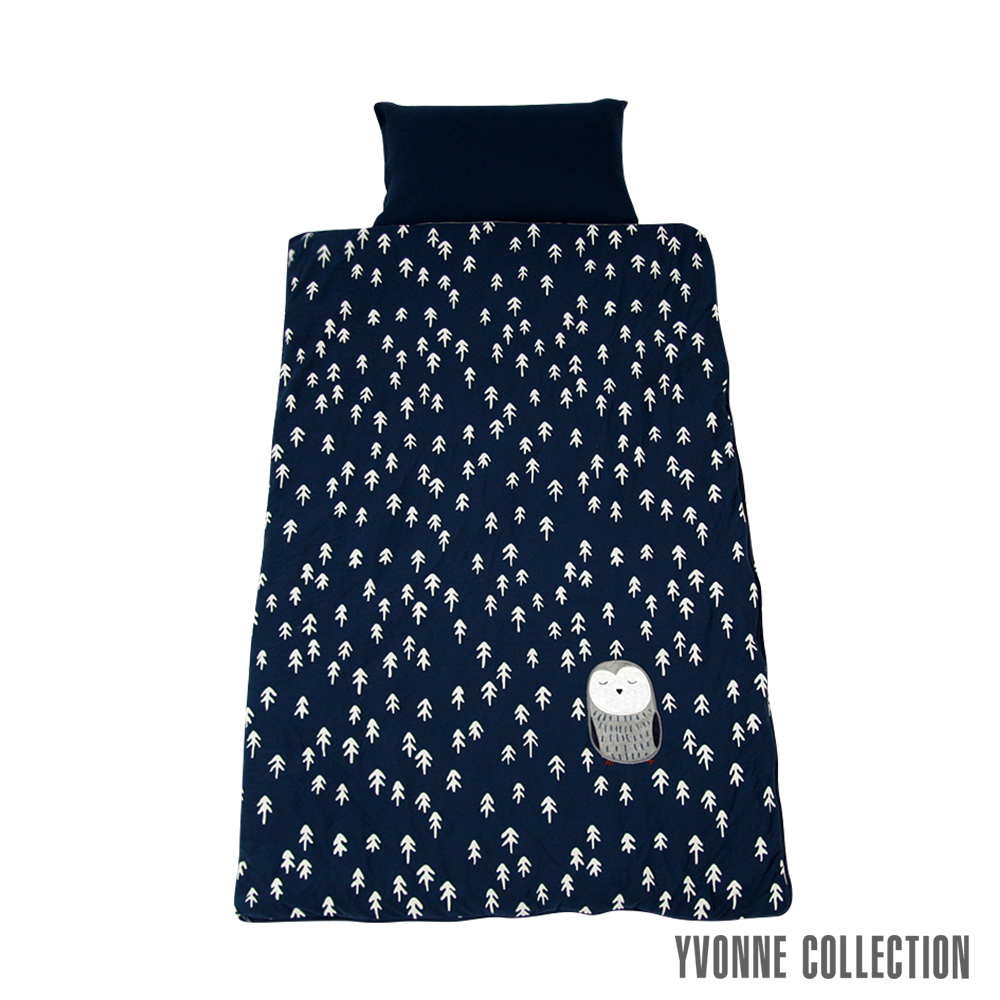 Yvonne Collection 貓頭鷹兩用睡袋- 深藍