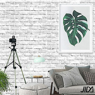 佶之屋 DIY立體3D仿真石紋木紋自黏壁貼 45x300cm-白磚