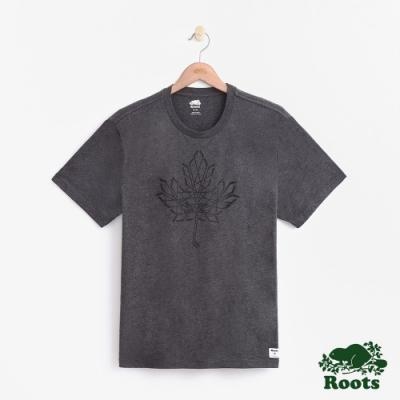 男裝Roots-曲棍球短袖T恤-灰