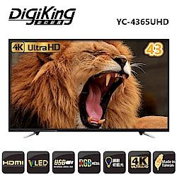 DigiKing 數位新貴43吋真4K UHD LED液晶+數位視訊盒 YC-4365