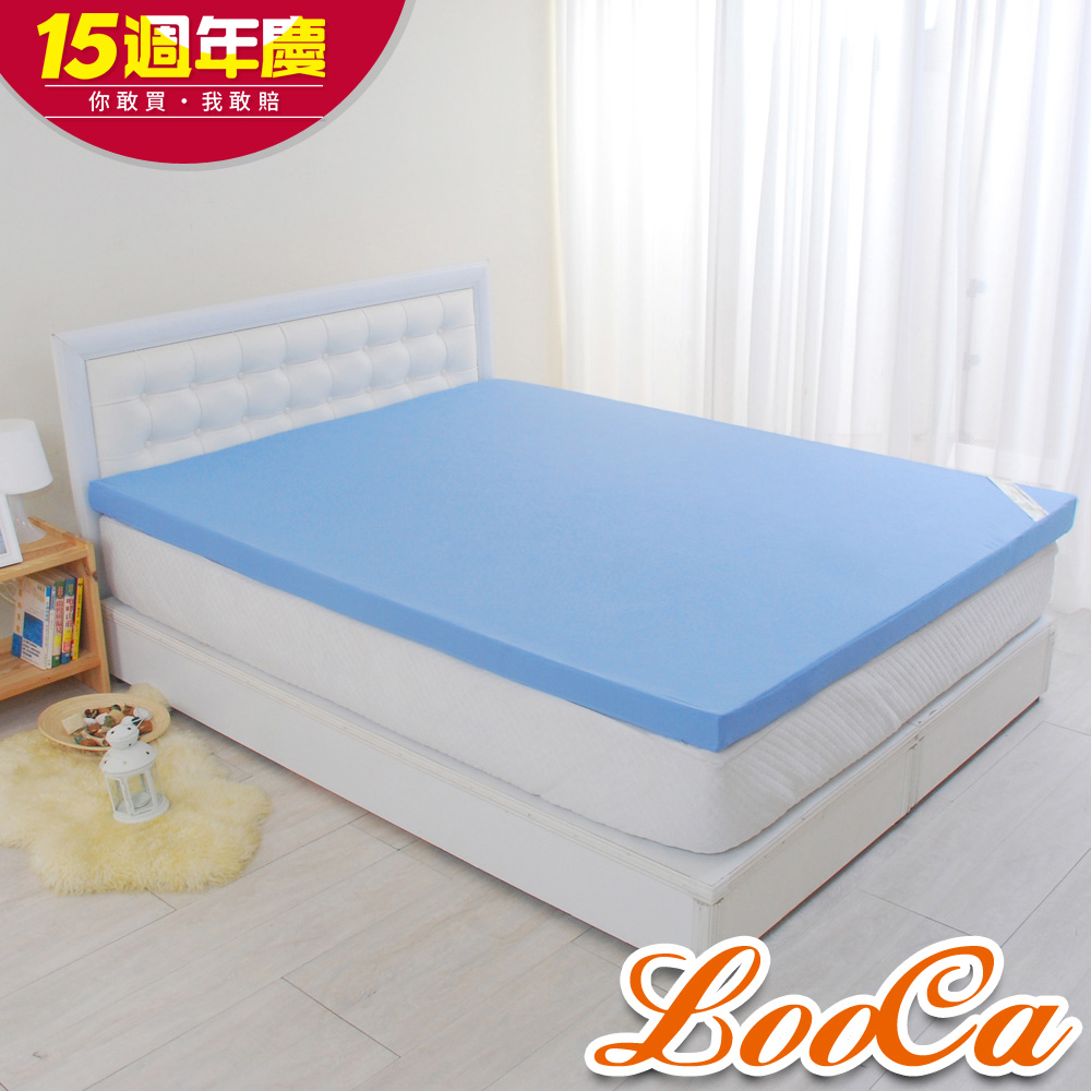 (週年慶限定)LooCa花焰超透氣6cm記憶床墊 -單人3尺