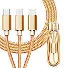 HANG for iPhone 8pin/Micro /TYPE-C 快速傳輸3合1充電線