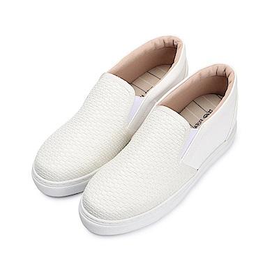 BuyGlasses 交織好幾層層內增高懶人鞋-白