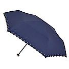 2mm 花邊刺繡星星黑膠降溫輕量手開傘 (星曜藍)