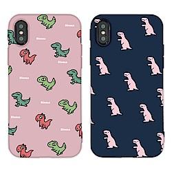 【TOYSELECT】iPhone XR 時尚經典恐龍亂花手機殼