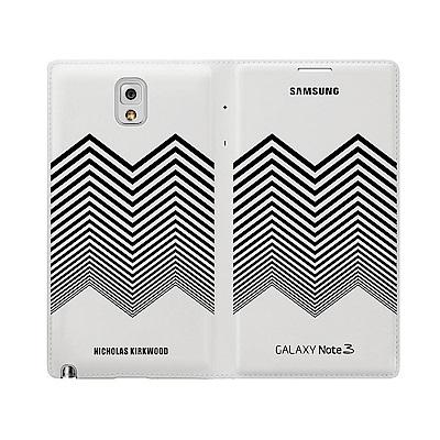 SAMSUNG GALAXY NOTE3 原廠皮套 山型臂章(台灣代理商)