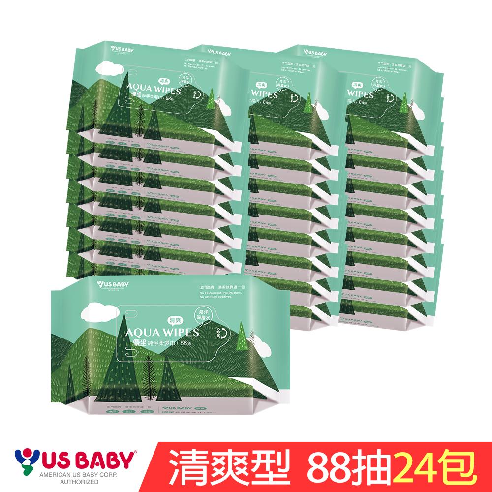 [限時搶購]優生純淨柔濕巾88抽-清爽型24包