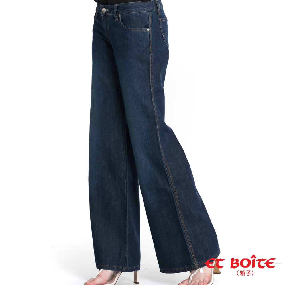 ETBOITE箱子 BLUE WAY –低腰大喇叭丹寧褲
