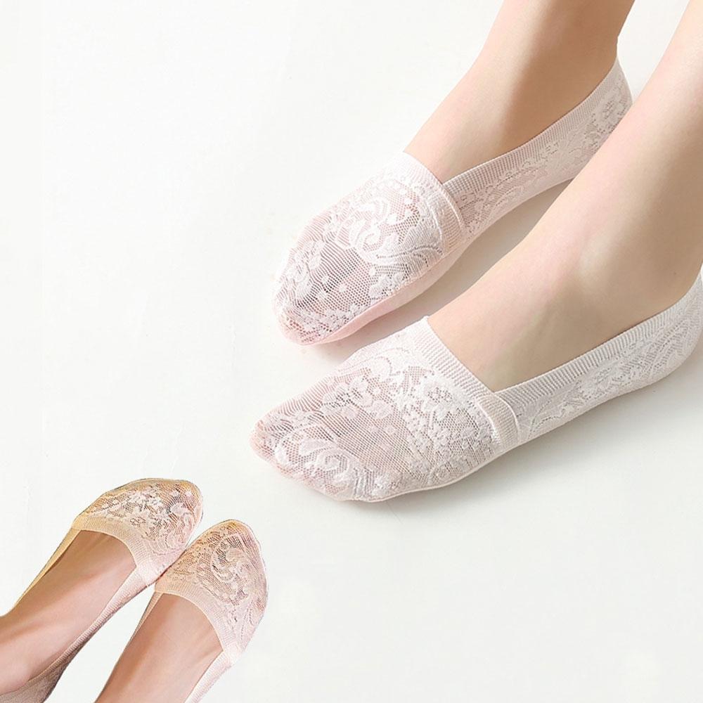 TengYue 日系絲綢防滑透氣隱形襪-10雙組(深口款)