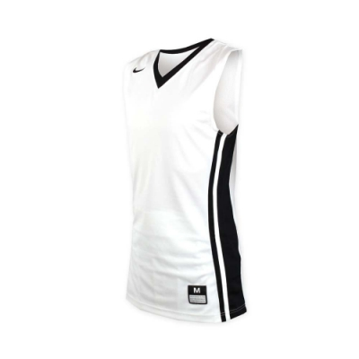 NIKE 男V領籃球針織背心-無袖背心 運動背心 球衣 白黑