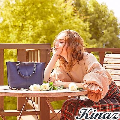 KINAZ 楓葉書籤兩用斜背包-午夜藍-綠色莊園系列